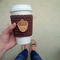 Coffee Cup Cozy For Fall, Fall Drink Holder, Fall Accessories, Fall Coffee Sleeve