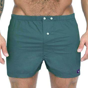 Solid Dark Green Boxer Short - Spruce Sizes L & XL Available