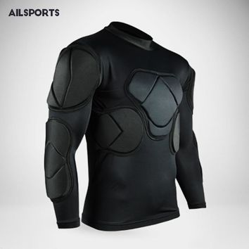 2018 Rugby Soccer jerseys Goalkeeper jacket survetement football thickened Defend shirts EVA Padded Latex elbow knee pads helmet