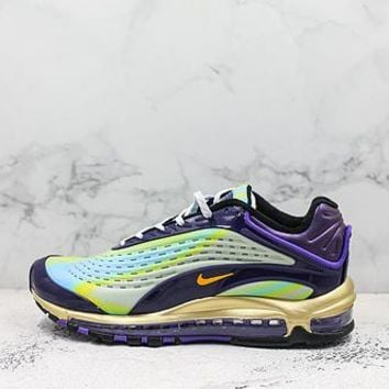 Nike Air Max Deluxe 99 Green Purple Running Shoes - Best Deal Online