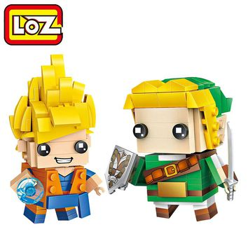 LOZ Mini Block The Legend of Zelda Link Building Blocks Dragon Ball Son Goku Brick Heads Figure Toys LOZ Blocks Set 1424 1433