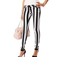 BlackWhite Wide Stripe Jeans