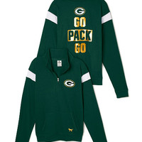 Green Bay Packers Bling Boyfriend Half-Zip - PINK - Victoria's Secret