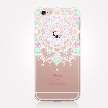 Transparent Mandala iPhone Case - Transparent Case - Clear Case - Transparent iPhone 6 - Gel Case - Soft TPU Case - Samsung S7