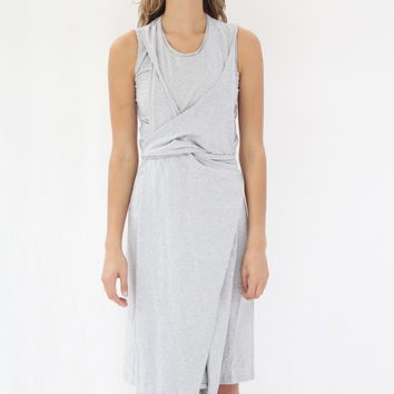Kowtow Volute Dress Grey Heather
