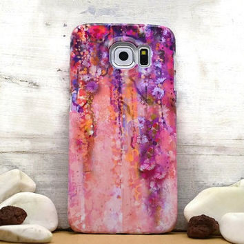 Floral ornament purple iphone 6 case / iphone 6 plus case / Samsung galaxy S6 case, Samsung galaxy S4 case / iphone 4 5 5C, S4 note 3 note 4
