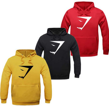 Hot Selling Winter Autumn Mens Fashion cotton GymShark Hoodies Sweatshirts Casual Male Hooded suit men hoodies tracksuits
