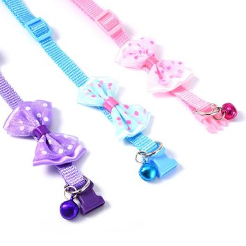 2017 At a Loss Adjustable Pet Collar Small Dog  Nylon Leashes Necklace with Bell Cat Supplies 1 PCS Shipping