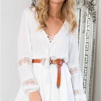 Off To Sea playsuit in white