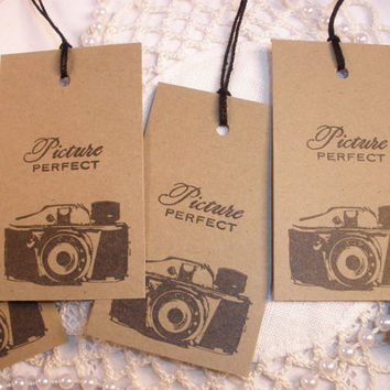 Vintage Camera Tags Set of 8