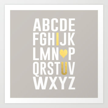 Now I Know My ABC's Art Print by Climbing Mountains Art