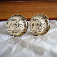 Mens Bicycle Cufflinks by ivcreations55 on Etsy