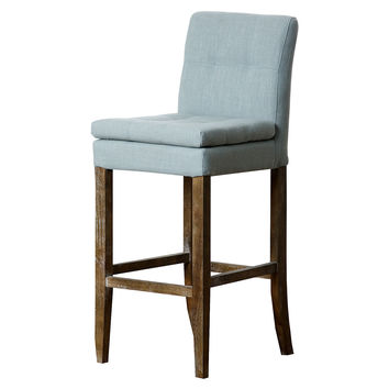 Chandler Linen Barstool, Light Blue, Bar & Counter Stools