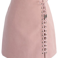 Lace-up Tribe Bud Skirt in Pink