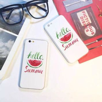 ONETOW Hot Deal Stylish On Sale Cute Iphone 6/6s Hot Sale Innovative Simple Design Summer Watermelon Iphone Relief Sculpture Apple Phone Case [8864259207]