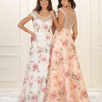 Long Prom Dress Evening Gown Formal Print
