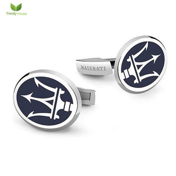 Copper Silver Car Logo Men's Cuff Links Round Mens Wedding Party Gift Rhodium France Shirt Button Gemelos De Alta Calidad