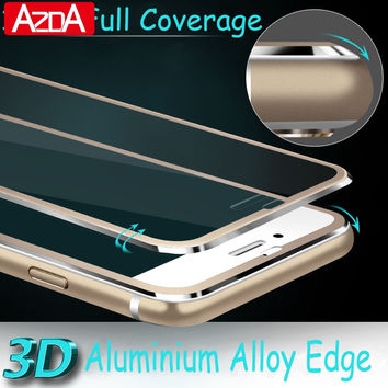 Aluminum alloy Tempered glass phone Coque For iphone 6 6S 6 7 plus Case phone Accessories Full screen coverage cover 5 5S SE 5C