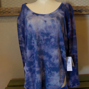 Jessica Simpson Hand Died Long Sleeved Top   New With Tags