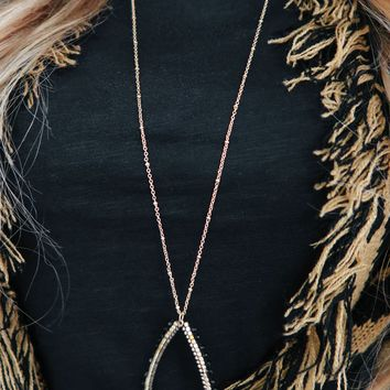 No Holding Back Necklace: Gold/Black