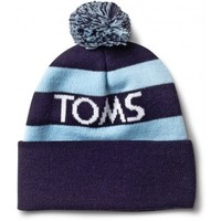 Unisex TOMS Cuffed Navy Beanie with Pom
