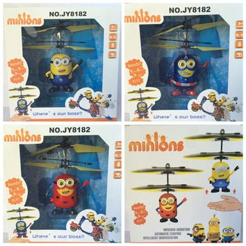 Remote Control RC Helicopter Flying Minion/Captain America/ Spiderman Quadcopter Drone Ar.drone Kids Toy Fairy Avengers  Doll