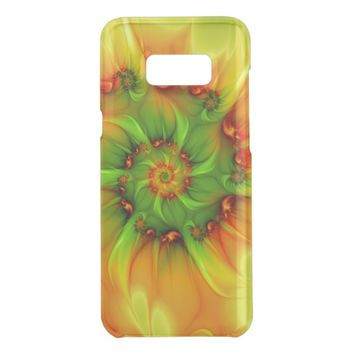 Hot Summer Green Orange Abstract Colorful Fractal Get Uncommon Samsung Galaxy S8 Plus Case