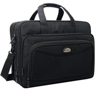 Expandable Large Capacity Briefcase, 2-in-1 17 Inch Messenger Bags for Men