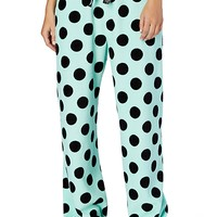 Mint Jumbo Dot Plush PJ Pant