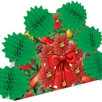 "Winter/Christmas Pop-Over Centerpiece - 10"""" Case Pack 12"