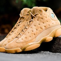 "Air Jordan 13 ""Wheat"" Men Basketball Shoes Sneaker"