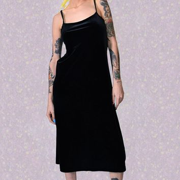 ECH Vintage Alannah Black Velvet Dress