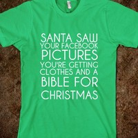 Santa Knows-Unisex Grass T-Shirt