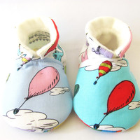 Little Piggies Baby Shoes- Inspired by Dr. Suess, Oh The Places you Will Go Baby Shoes- Gender Neutral