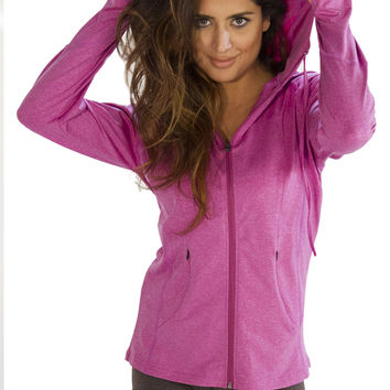 Womens Sports Jacket - Hooded - Cool Pink