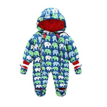 New Baby Rompers Winter Thick Warm Baby boy Clothing Long Sleeve Hooded Jumpsuit Infant Baby Girls Clothes Kids Newborn Outwear