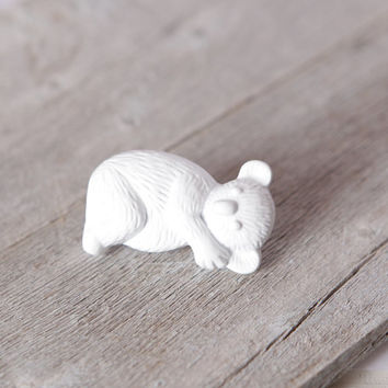 White Koala Knobs, Kids Dresser Knobs, Metal Zoo Animal Nursery, Koala Bear Nursery