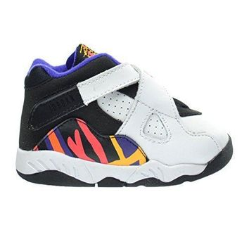 """Jordan 8 Retro BT """"Threepeat"""" Toddlers/Infants Shoes White/Infrared 23/Black/Bright Co"""