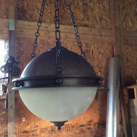 Large Vintage Gothic Hanging Globe Light was used as Prop in Vin Diesel Film