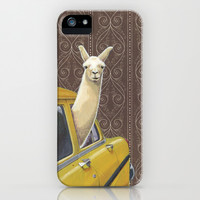 Taxi Llama iPhone & iPod Case by Jason Ratliff