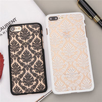 Chinese Style Damask Vintage Flower Pattern Cover for iphone5 5S SE Fundas for iPhone 6S 6 6plus 6S Plus 7 7Plus Cell Phone Case
