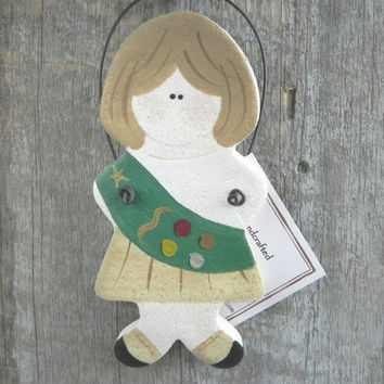 Girl Scout Salt Dough Ornament