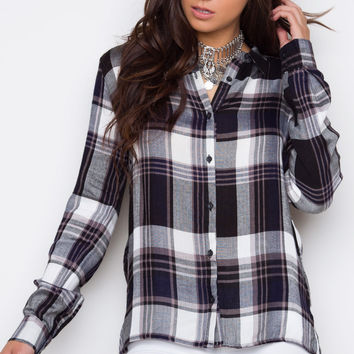 Nika Plaid Top