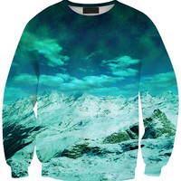 Mountain Range with Sky 3D Print Long Sleeve Sweatshirt