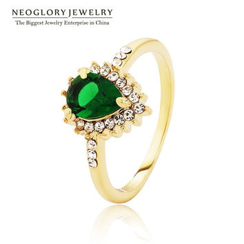 Neoglory Zircon Rhinestone Finger Rings 14k Gold Plated Wedding Jewelry Women Accessories Statement Brand 2014 New Fashion Bride = 1930260228