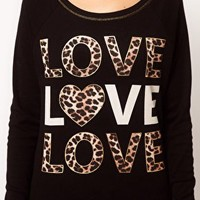 River Island Love Love Love Sweat Top at asos.com