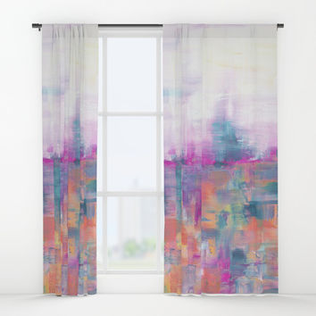 Improvisation 50 Window Curtains by ViviGonzalezArt