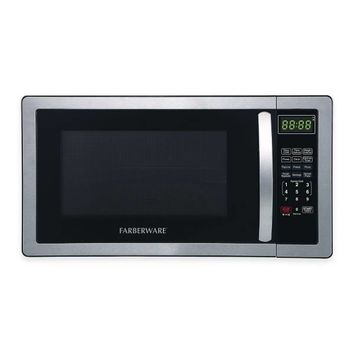 Farberware® Classic 1.1 Cubic Foot Microwave Oven in Stainless Steel/Black