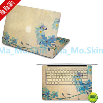 Orchid-Macbook Top Decal Macbook keyboard Sticker Macbook Suit Decals Macbook Stickers Apple Decal for Macbook Pro/Air/vinyl skins/