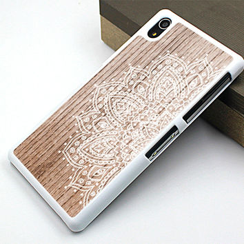 lace flower sony case,wood floral sony Z2 case,beautiful flower sony Z1 case,wood flower image  sony Z3 case,art flower sony case,wood flower sony Z case